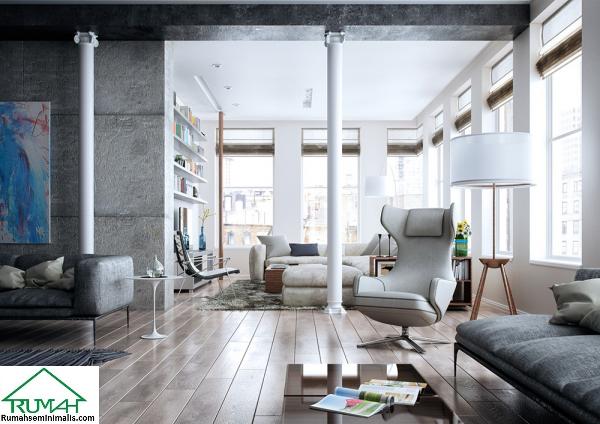Kumpulan Denah Model Desain Gambar Ruang Tamu Minimalis Modern