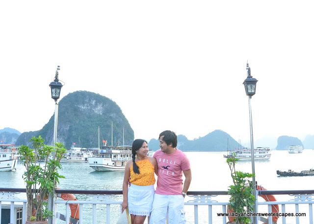 Lady and Ed in Halong Bay