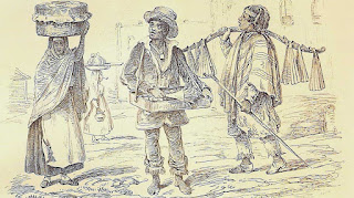 Vendedores ambulantes de la época colonial