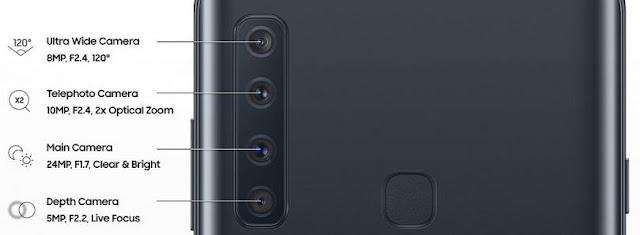 Samsung galaxy a9 2018 pro quatre camera
