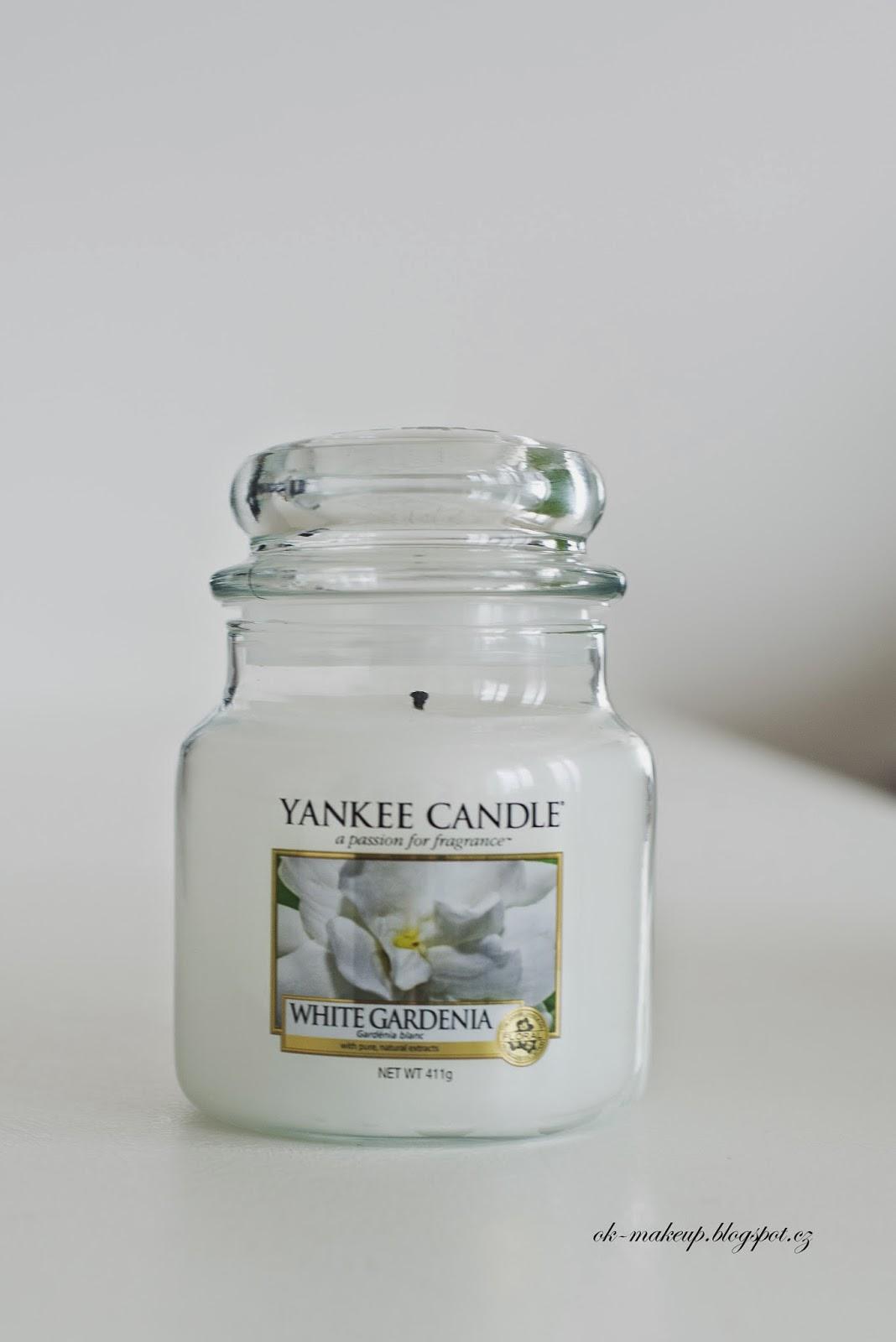 yankee candle, candle, svíčka, white gardenia