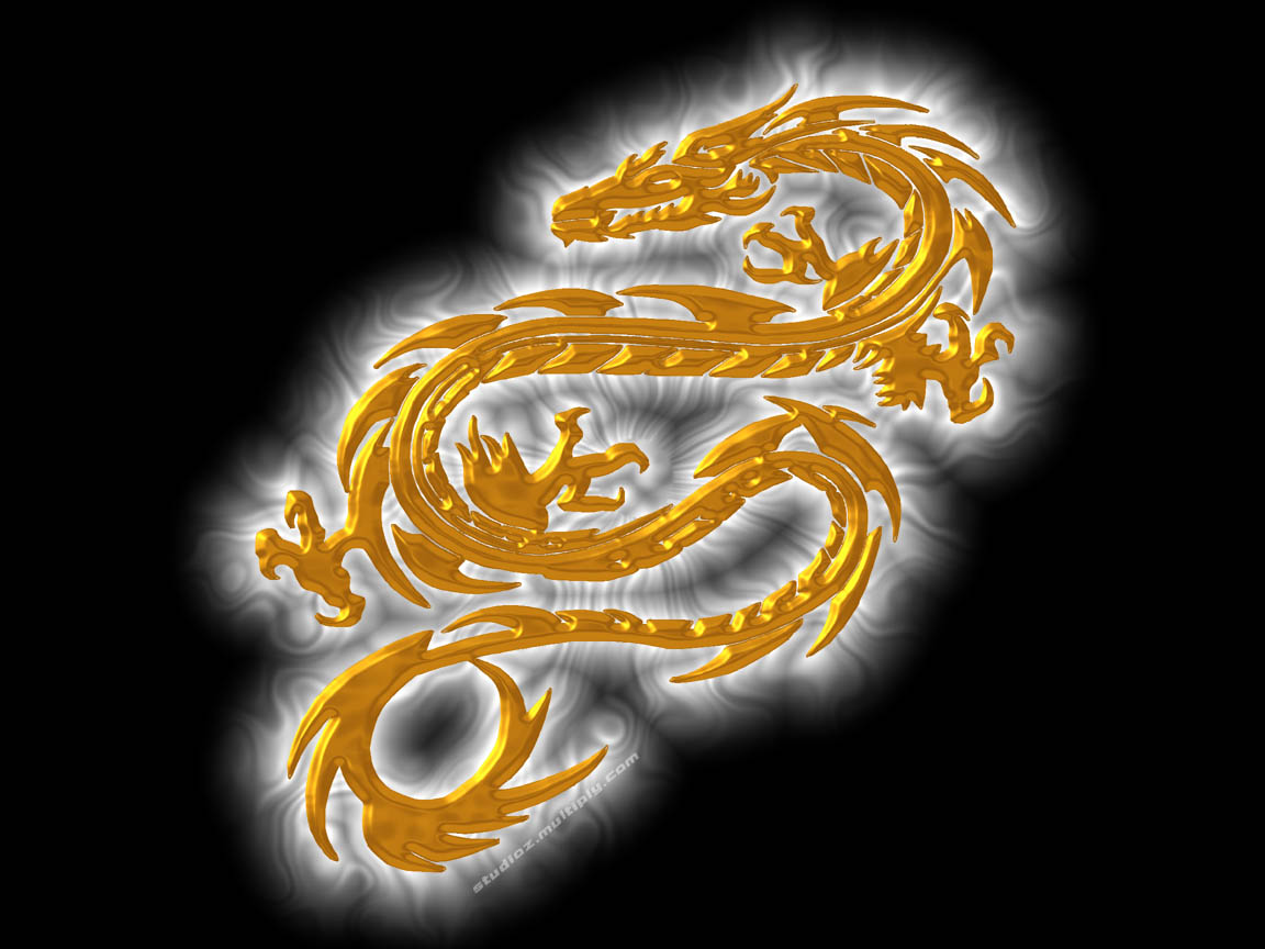 gold dragons wallpaper - photo #21
