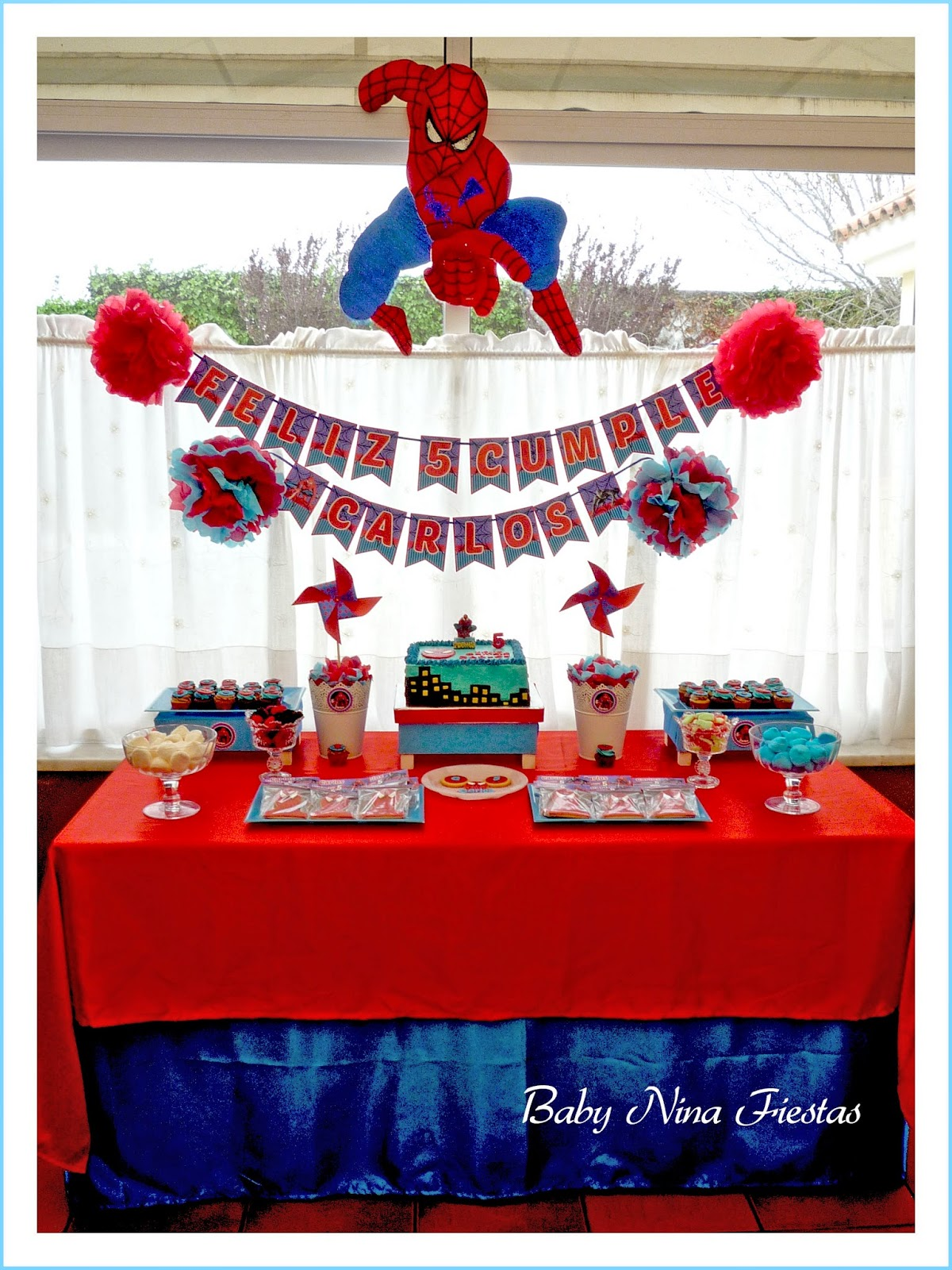 mesa dulce spiderman