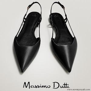 Infanta Sofia wore Massimo Dutti flat slingback shoes with buckle