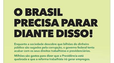 O Brasil precisa parar diante disso! #NãoàReformaTrabalhista Previdência reforma trabalhista