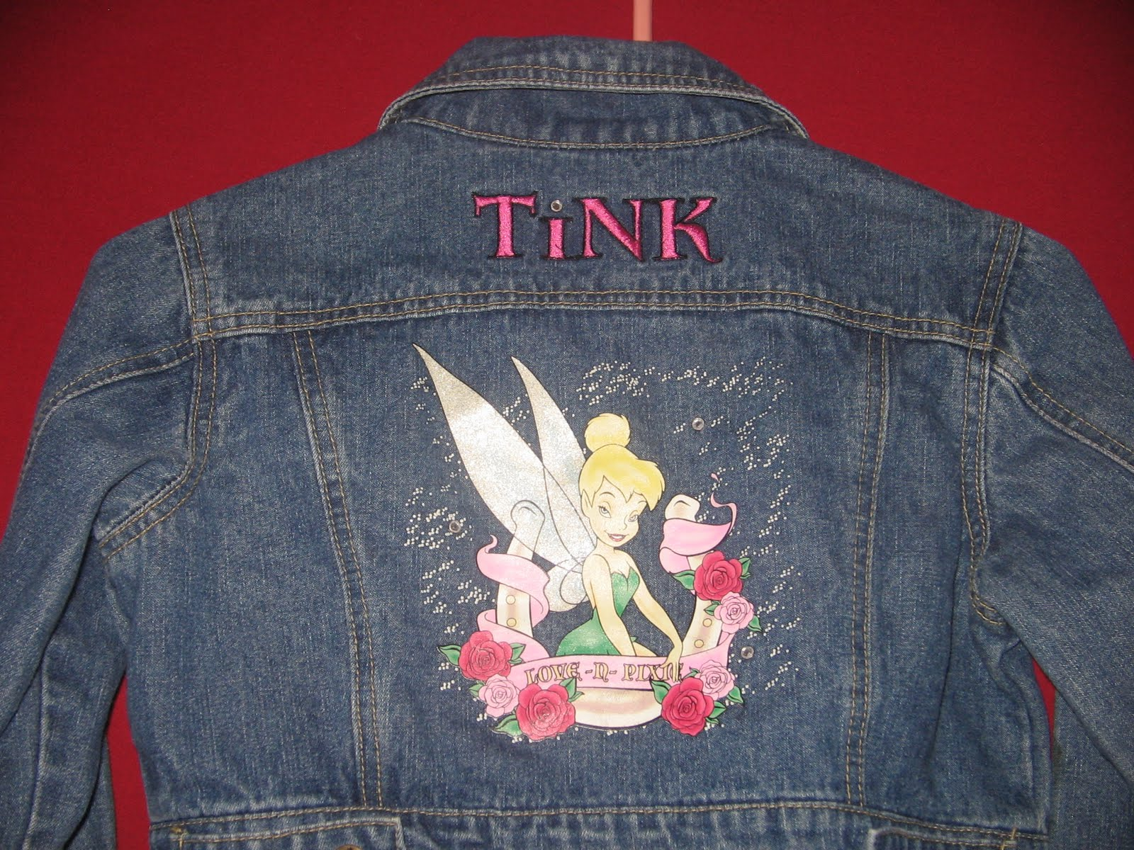 Summer Days Girls Levi Jacket W Tinkerbell Logo