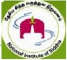 Recruitment in National Institute of Siddha