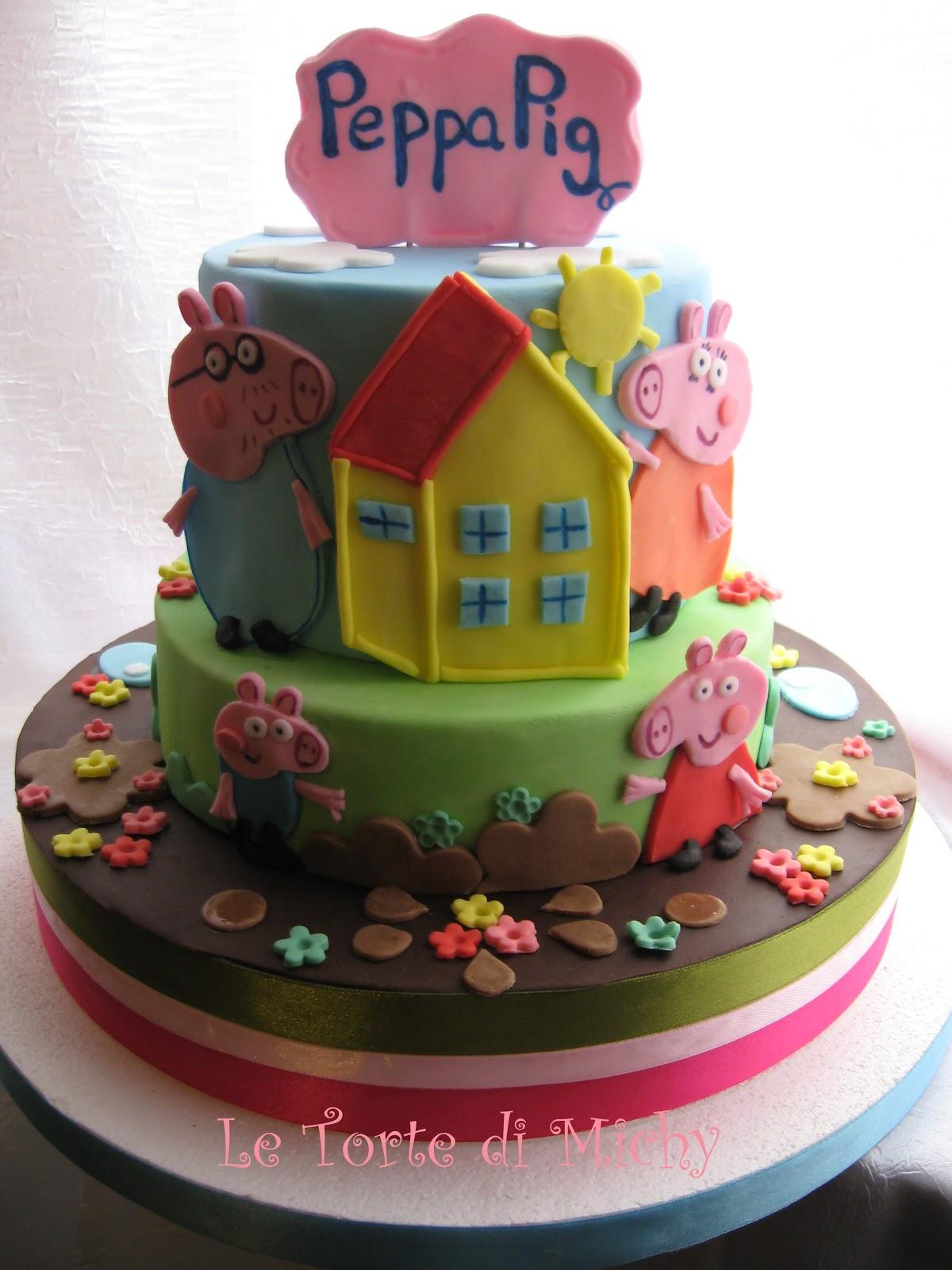 Torta Peppa Pig A Piani Pegga Pig Cake Le Torte Di Michy