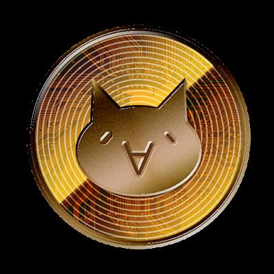 モナコイン (表面)のフリー素材(銅貨ver)