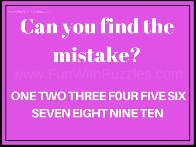 Can you see the Mistake Picture Puzzle