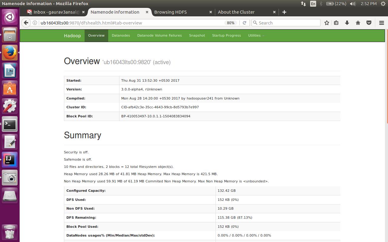 install hadoop 3.1.2 on ubuntu
