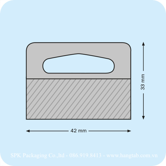 Thẻ treo lỗ Delta bằng nhựa dán băng keo 2 mặt