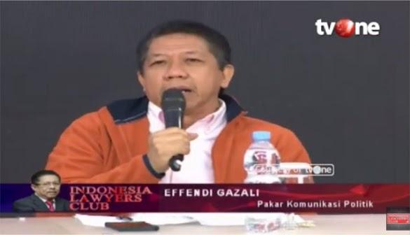 Blak-blakan Effendi Ghazali di ILC, soal Media Tidak Mau Menayangkan Reuni 212
