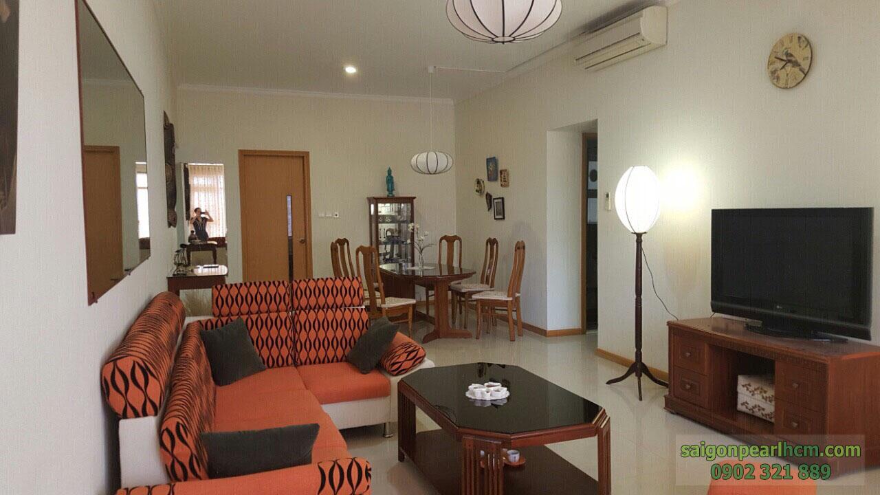 cho thuê căn hộ dịch vụ 3PN tầng 5 block Shapphire 2 - Saigon Pearl