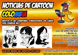 JORNADA DE CARICATURA EN LÍNEA PRO FONDOS NOTICIAS DE CARTOON COLOMBIA