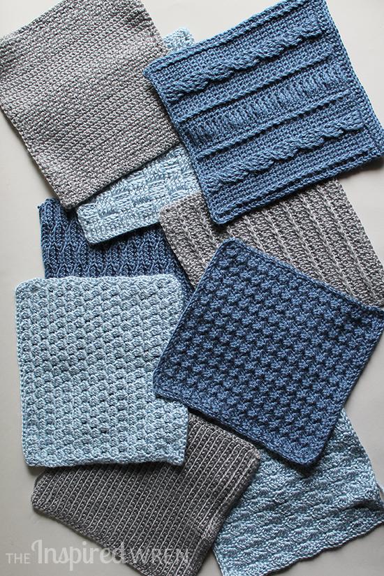 9 of 10 sample stitches for the 2015 Crochet Along Afghan Sampler from The Inspired Wren