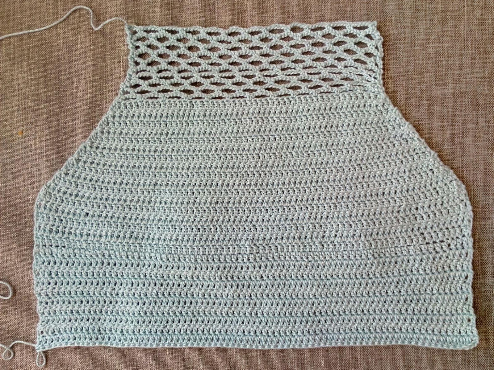 kuchichadas: Top medio largo crochet patrón