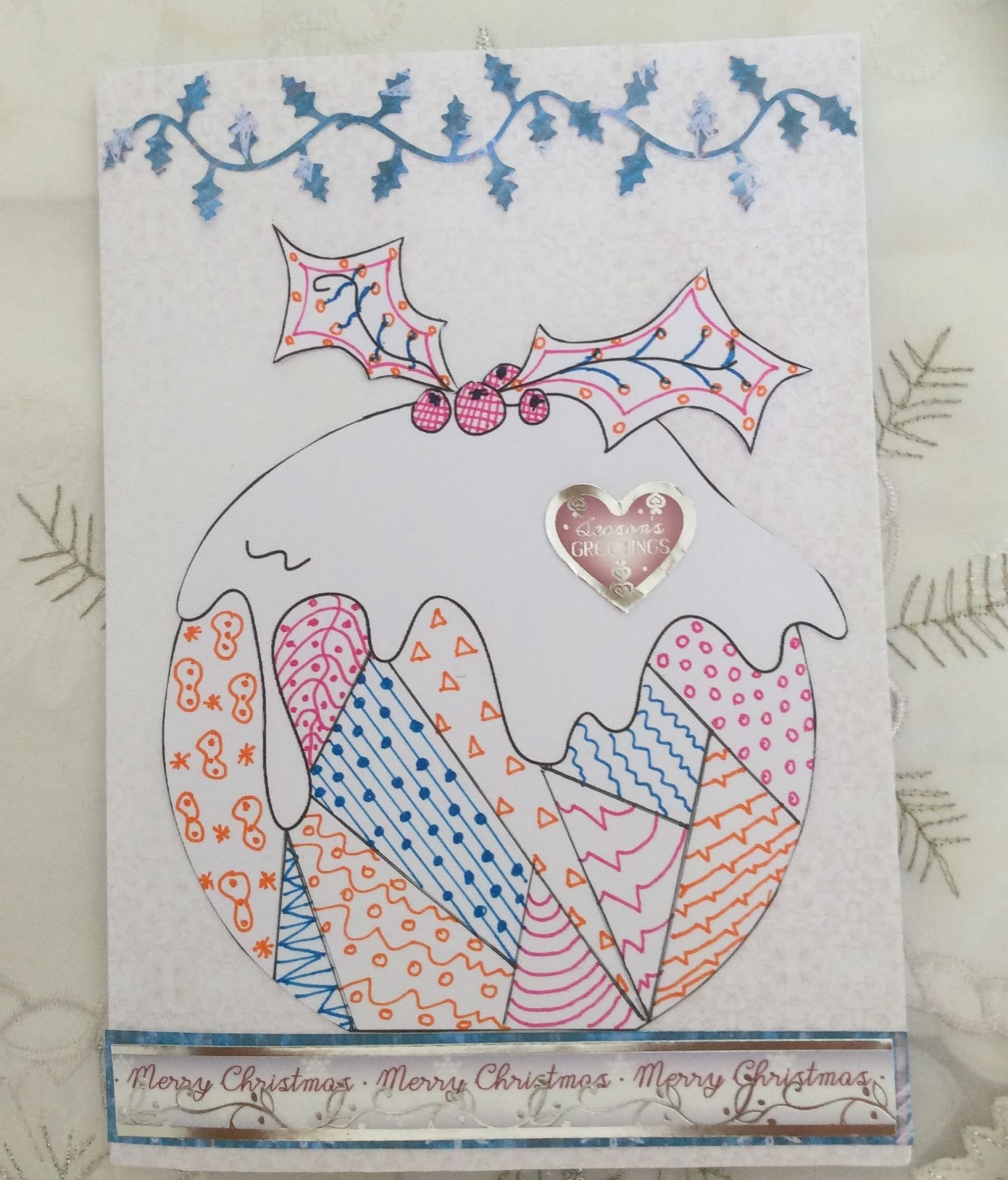 Sunshine Cards and Crafts: Zentangle Christmas