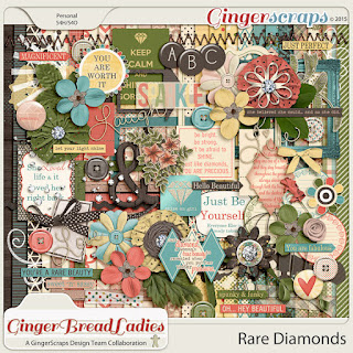 GingerBread Ladies Collab: Rare Diamonds by GingerScraps designers