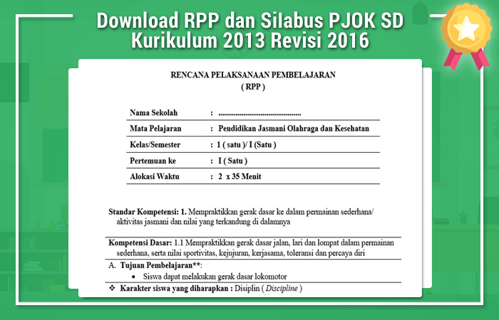 Download RPP dan SiIabus PJOK SD Kurikulum 2013 Revisi 2016