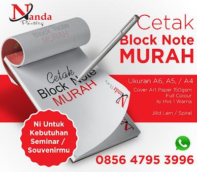 Cetak Block Note, Jasa Desain Grafis