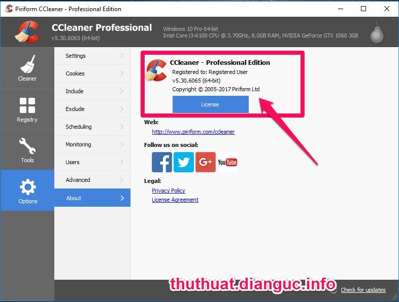 Download CCleaner v5.30.6065 Full Key miễn phí mới nhất