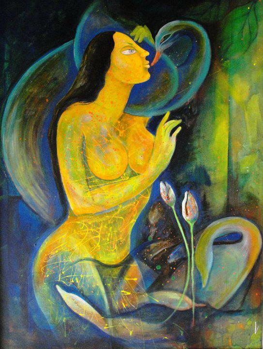Poonam Chandrika Tyagi 1964 | Indian Symbolist painter