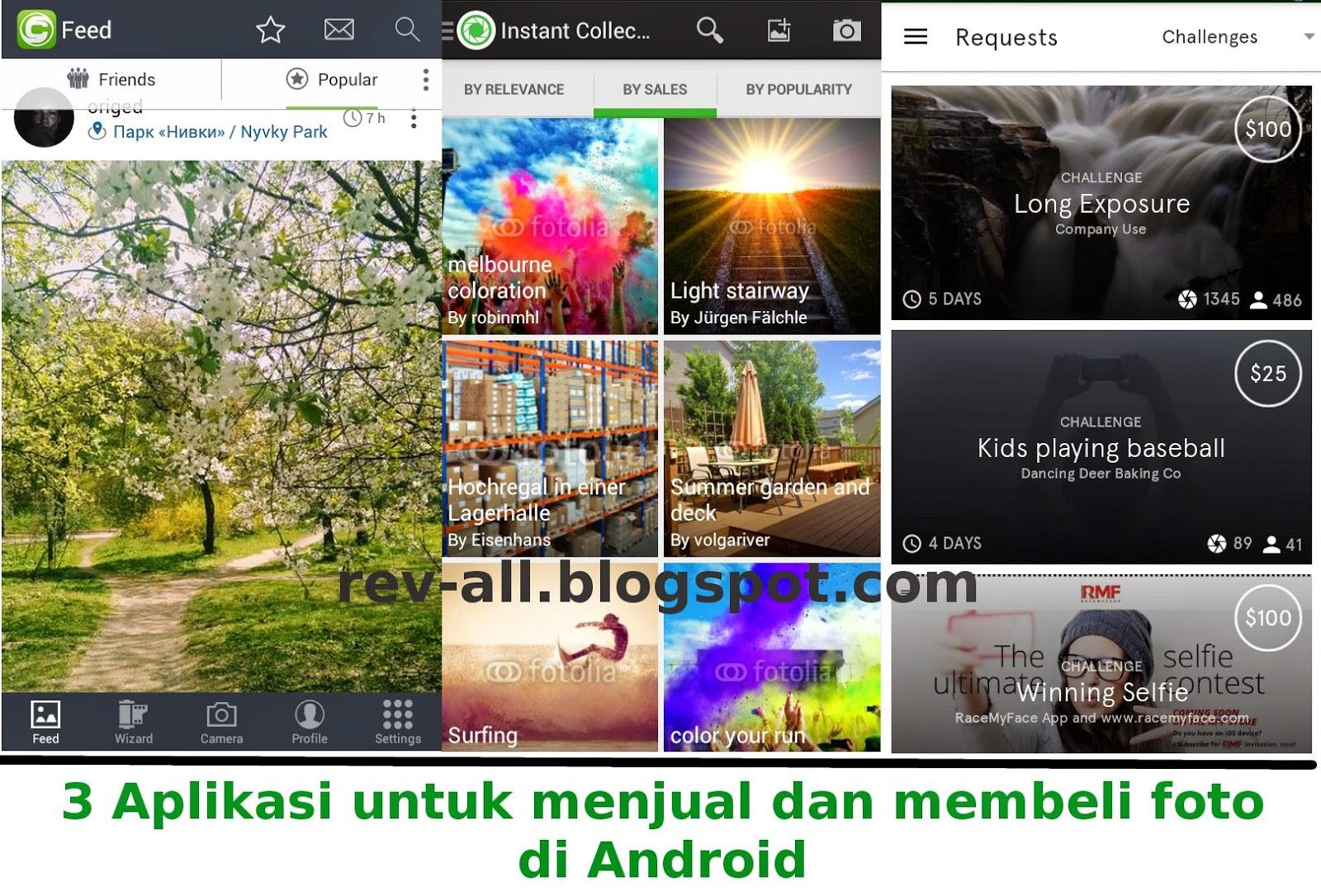 Review 3 aplikasi untuk jual-beli foto di android (rev-all.blogspot.com)