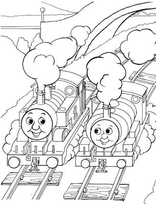 Gambar Mewarnai Thomas and Friends - 30