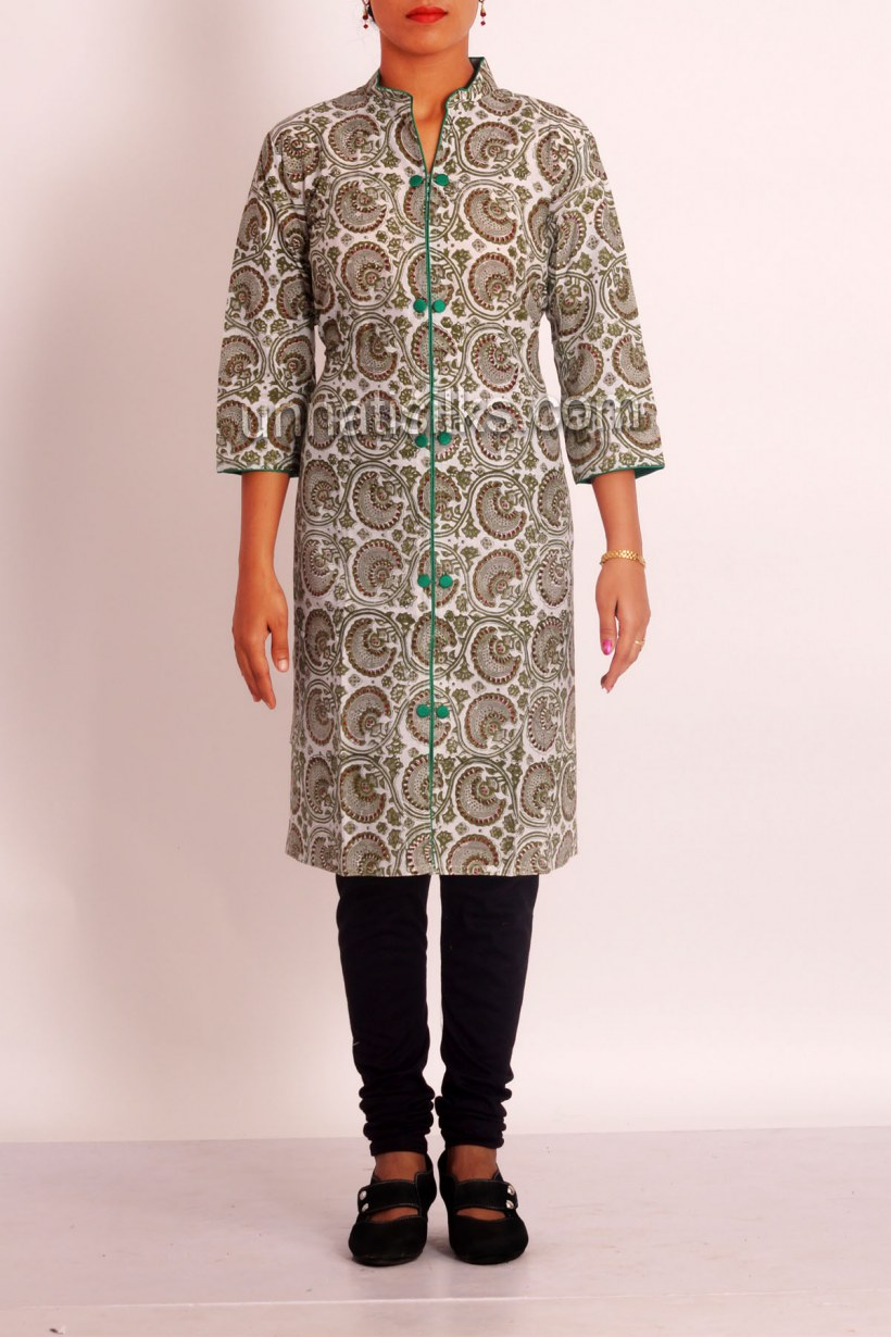 54e171b069 The ikat designed Pochampally Anarkali cotton kurtas and designer kurtis,  fancy Indian tunics and tops are a traditional offering from artisans but a  rage ...