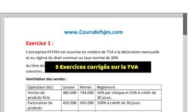 Exercices avec correction (TVA)