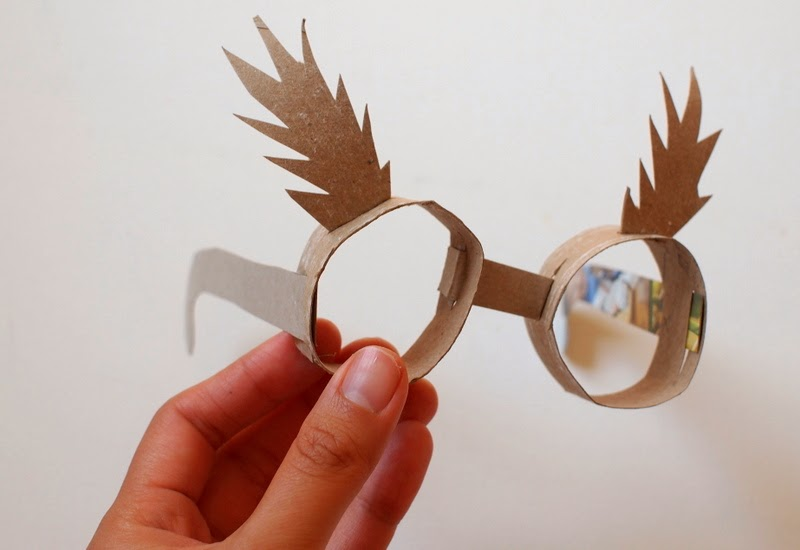 toilet paper roll glasses tutorial