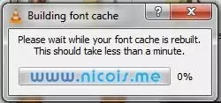 Building Font Cache on VLC Player