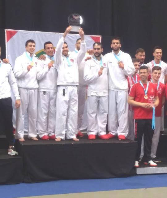 Karatecas dos Bombeiros de Alcabideche conquistam 3 pódios e título de Campeões Nacionais de Seniores em Kumite