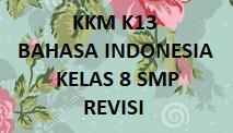 KKM K13 BAHASA INDONESIA KELAS 8 SMP REVISI BARU