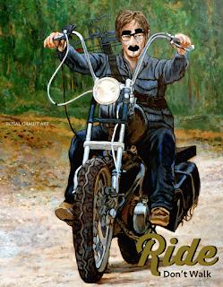 Ride, Don't Walk Daryl Dixon Halloween Costume by Boulder artist Tom Roderick