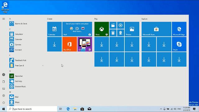 تحميل ويندوز 10 التحديث الجديد Windows 10 19H1