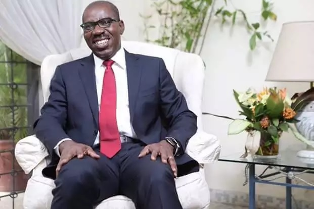 Watch Video..Mammoth crowd as Obaseki takes oath of office as Edo governor Benin – The Samuel Ogbemudia stadium, Benin, was filled to capacity as the new Governor of Edo, Mr Godwin Obaseki took oath of office on Saturday.