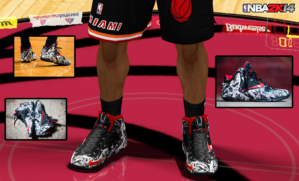 NBA 2K14 LeBron 11 Graffiti Colorway