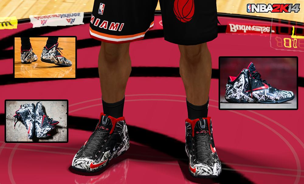 "f4c0908bfbfd1 NBA 2K14 Nike LeBron 11 ""Graffiti"" Shoes Patch - NBA2K.ORG"