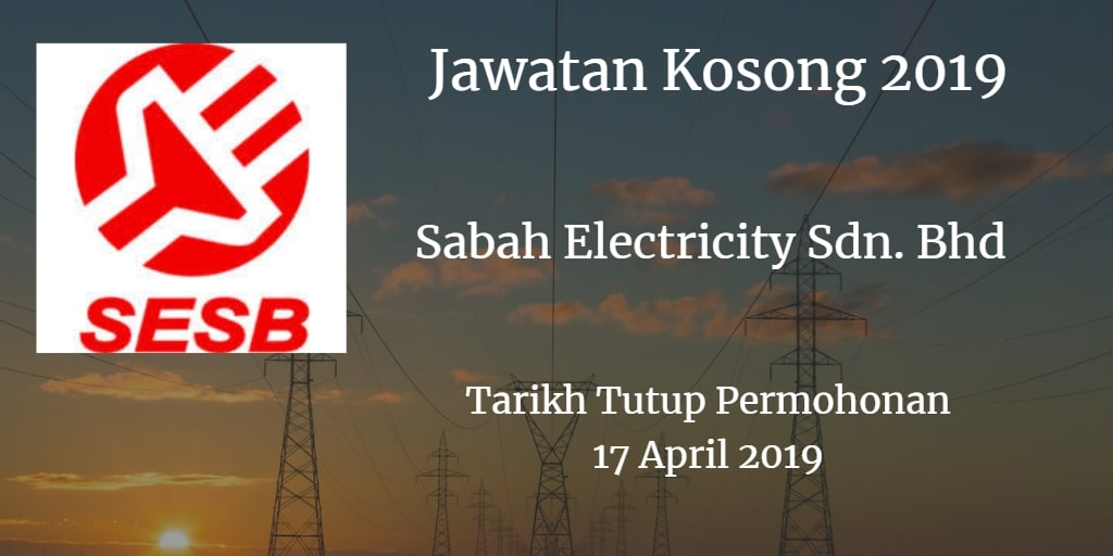 Jawatan Kosong SESB 17 April 2019