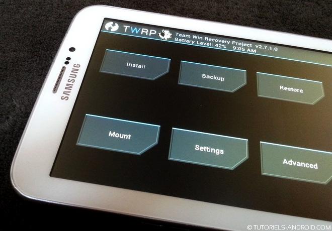 TWRP installé GALAXY Tab 3 7.0