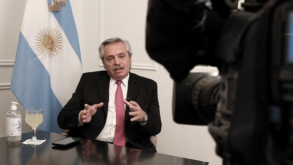 Alberto Fernández en TN: