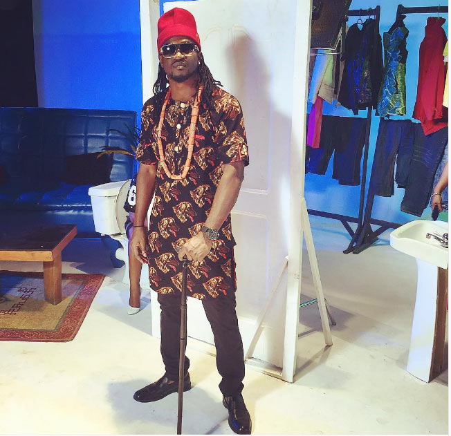 Paul Okoye also rocks native outfit