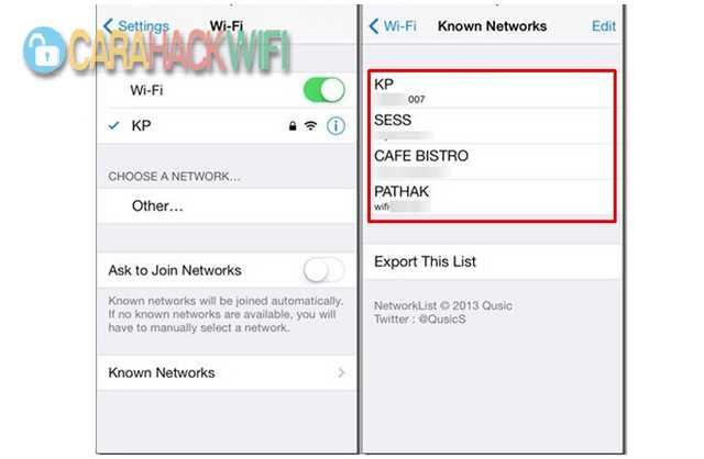 cara melihat password wifi di iphone jailbreak