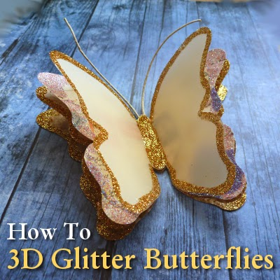 Make amazing 3d paper butterflies for spring for Butterflies for crafts and decoration
