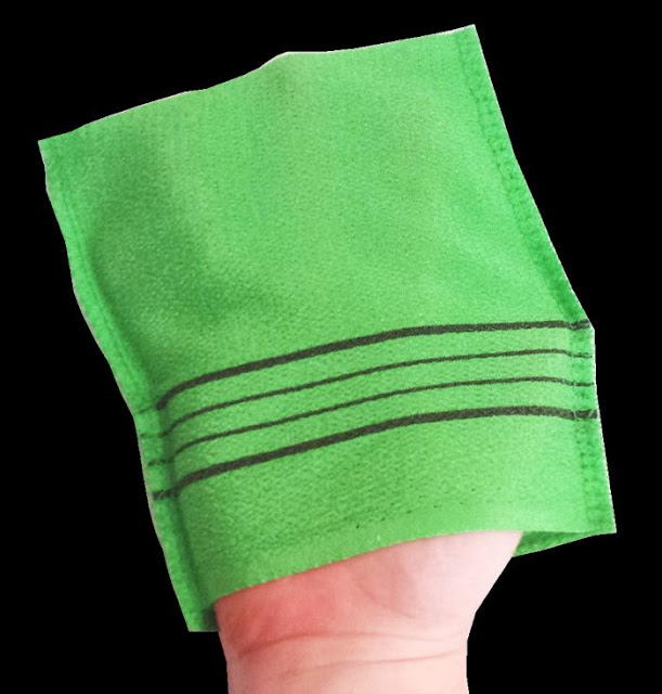 плик за есфолиране на тяло от стара кърпа