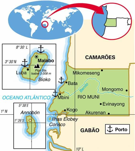 GUINÉ EQUATORIAL, ASPECTOS GEOGRÁFICOS E SOCIOECONÔMICOS DE GUINÉ EQUATORIAL