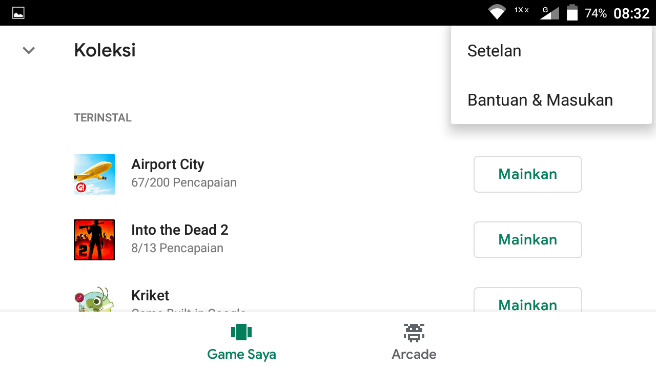 cara menghapus data game di android