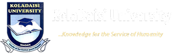 KolaDaisi University 2018/2019 Pre-Degree/Remedial Admission Form